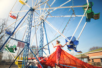 Amusement Park ~ Styled by Erin Leigh Pribyl  Couture dress by Alice Andrews Designs